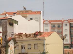 telhado.